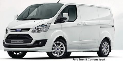 Ford Transit Custom panel van 2.2TDCi 114kW SWB Sport - Image credit: © 2018 duoporta. Generic Image shown.