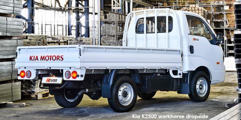 Kia K2500 workhorse dropside - Image credit: © 2020 duoporta. Generic Image shown.