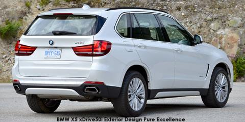 BMW X5 xDrive50i Exterior Design Pure Excellence - Image credit: © 2018 duoporta. Generic Image shown.
