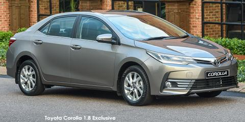 Toyota Corolla 1.8 Exclusive auto - Image credit: © 2018 duoporta. Generic Image shown.