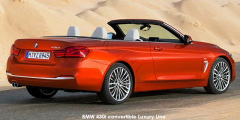 BMW 420i convertible auto - Image credit: © 2018 duoporta. Generic Image shown.