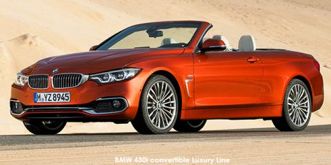 BMW 430i convertible auto - Image credit: © 2018 duoporta. Generic Image shown.