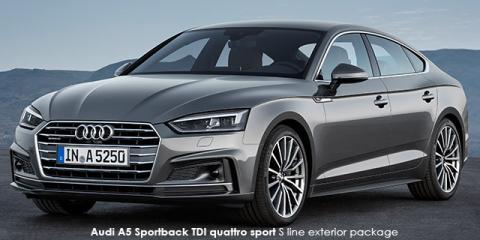 Audi A5 Sportback 2.0TDI quattro sport S line sports - Image credit: © 2018 duoporta. Generic Image shown.