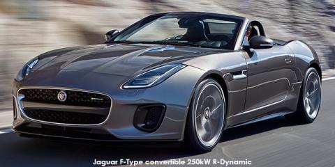 Jaguar F-Type convertible 280kW R-Dynamic auto - Image credit: © 2019 duoporta. Generic Image shown.