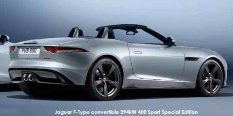 Jaguar F-Type convertible 294kW 400 Sport Special Edition - Image credit: © 2018 duoporta. Generic Image shown.