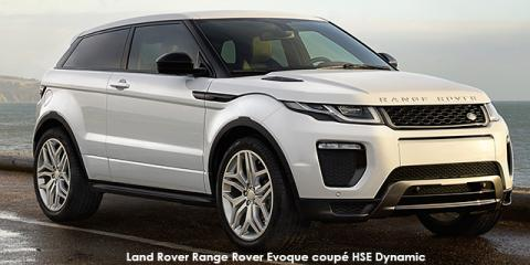 Land Rover Range Rover Evoque coupe HSE Dynamic Si4 213kW - Image credit: © 2018 duoporta. Generic Image shown.