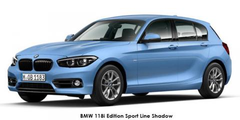 BMW 118i 5-door Edition Sport Line Shadow auto - Image credit: © 2019 duoporta. Generic Image shown.