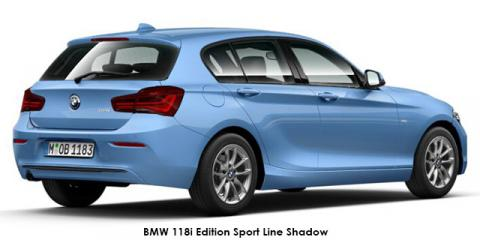 BMW 118i 5-door Edition Sport Line Shadow auto - Image credit: © 2018 duoporta. Generic Image shown.