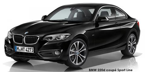 BMW 220i coupe Sport Line auto - Image credit: © 2018 duoporta. Generic Image shown.
