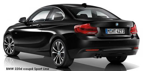 BMW 220d coupe Sport Line sports-auto - Image credit: © 2018 duoporta. Generic Image shown.