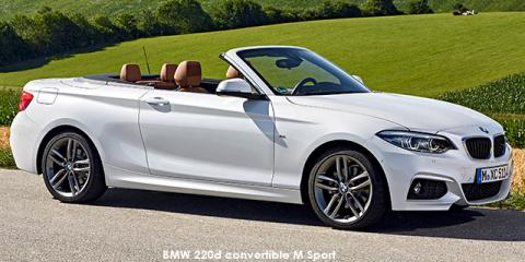 BMW 220i convertible Sport Line auto - Image credit: © 2019 duoporta. Generic Image shown.