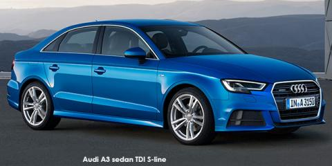 Audi A3 sedan 2.0TFSI auto - Image credit: © 2018 duoporta. Generic Image shown.