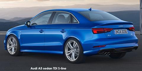 Audi A3 sedan 2.0TDI S line - Image credit: © 2018 duoporta. Generic Image shown.