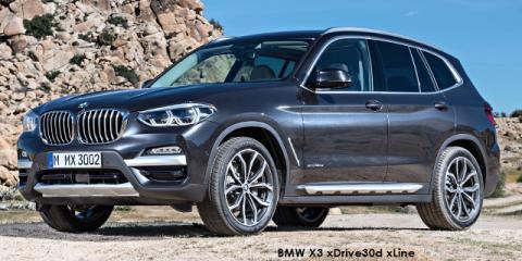 BMW X3 xDrive30d sports-auto - Image credit: © 2018 duoporta. Generic Image shown.