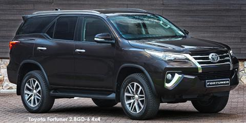 Toyota Fortuner 2.8GD-6 auto - Image credit: © 2018 duoporta. Generic Image shown.