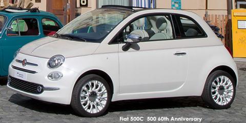 Fiat 500C 0.9 TwinAir 500 60th Anniversary auto - Image credit: © 2018 duoporta. Generic Image shown.