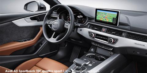 Audi A5 Sportback 45TFSI quattro sport S line sports - Image credit: © 2019 duoporta. Generic Image shown.