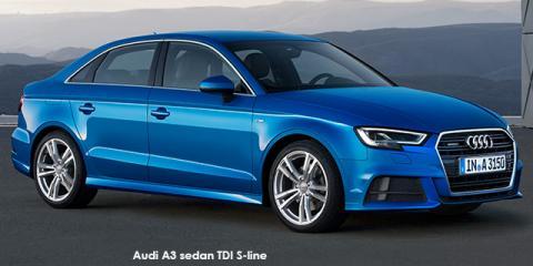 Audi A3 sedan 40TFSI S line - Image credit: © 2019 duoporta. Generic Image shown.