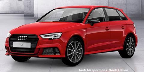 Audi A3 Sportback 40TFSI Black Edition - Image credit: © 2019 duoporta. Generic Image shown.