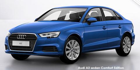 Audi A3 sedan 30TFSI Comfort Edition - Image credit: © 2019 duoporta. Generic Image shown.
