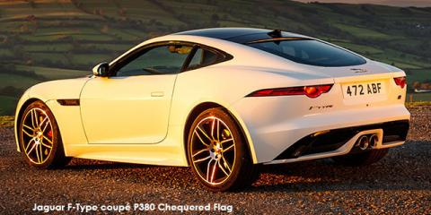Jaguar F-Type coupe P300 Chequered Flag - Image credit: © 2019 duoporta. Generic Image shown.