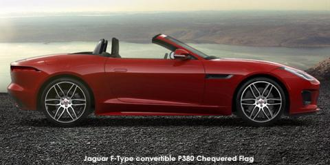 Jaguar F-Type convertible P340 Chequered Flag - Image credit: © 2019 duoporta. Generic Image shown.