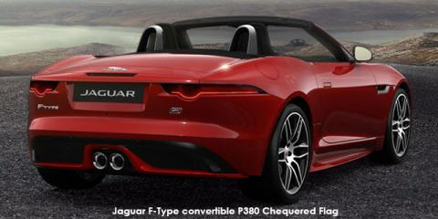 Jaguar F-Type convertible P380 AWD Chequered Flag - Image credit: © 2019 duoporta. Generic Image shown.