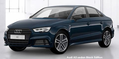 Audi A3 sedan 40TFSI Black Edition - Image credit: © 2020 duoporta. Generic Image shown.