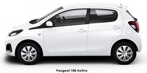 Peugeot 108 1.0 Active - Image credit: © 2021 duoporta. Generic Image shown.