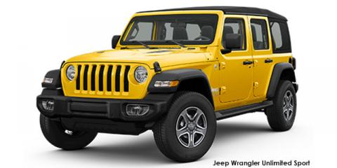 Jeep Wrangler Unlimited 3.6 Sport - Image credit: © 2021 duoporta. Generic Image shown.