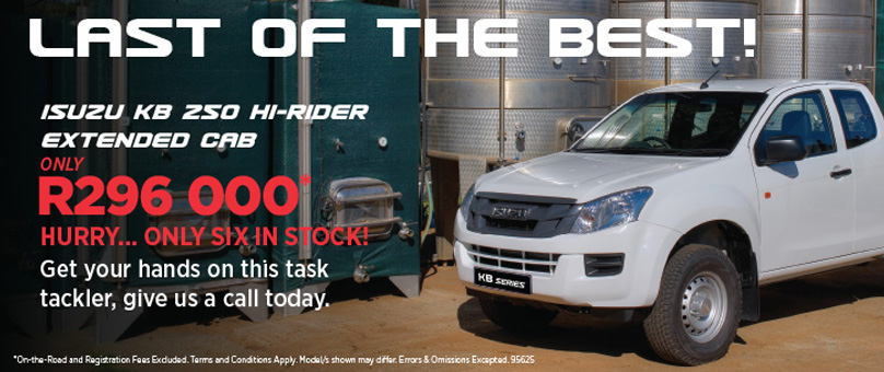 Isuzu KB 250 Hi-Rider Extended Cab (New Vehicle Special Offer)