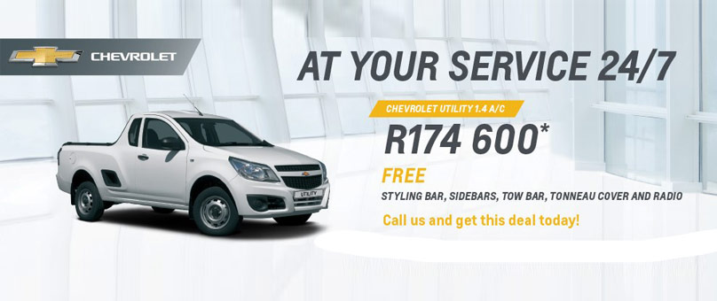 Chevrolet Utility 1.4 A/C At your Service 24/7