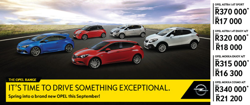 Spring into a brand new OPEL this September!