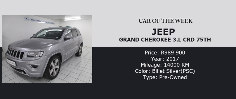2017 Jeep Grand Cherokee Special Offer