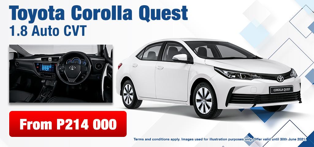 Toyota Corolla Quest 18 Auto Cvt