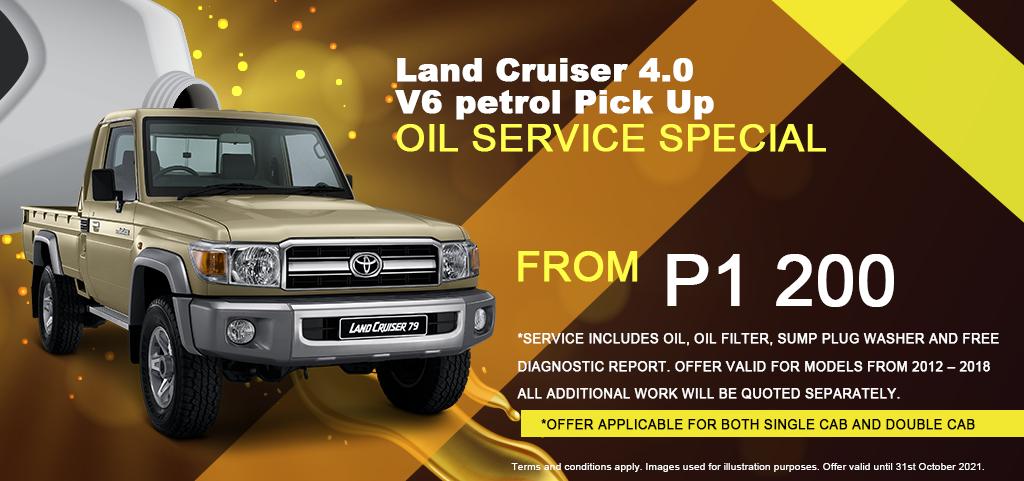 Land Cruiser 40 Oil Service
