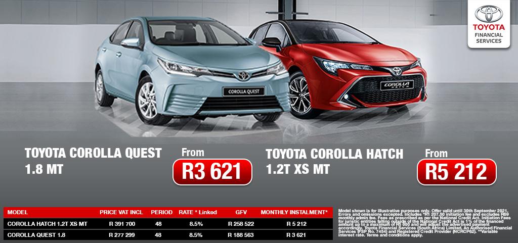 Toyota Corolla Quest And Toyota Corolla Hatch