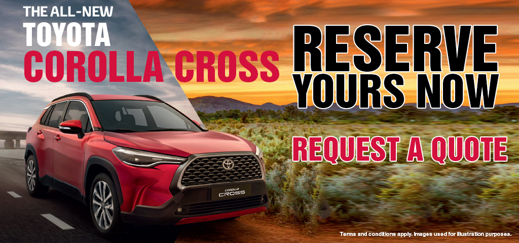 Toyota Corolla Cross   Reserve Yours Now