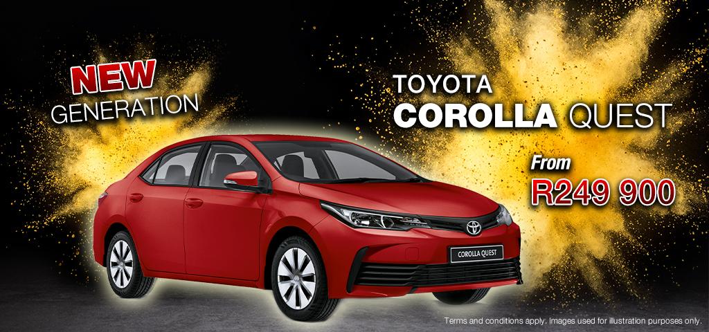 New Generation Toyota Corolla Quest   17/02/2020