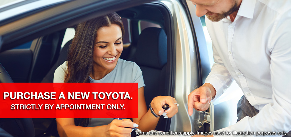 Purchase A New Toyota Appointment Only