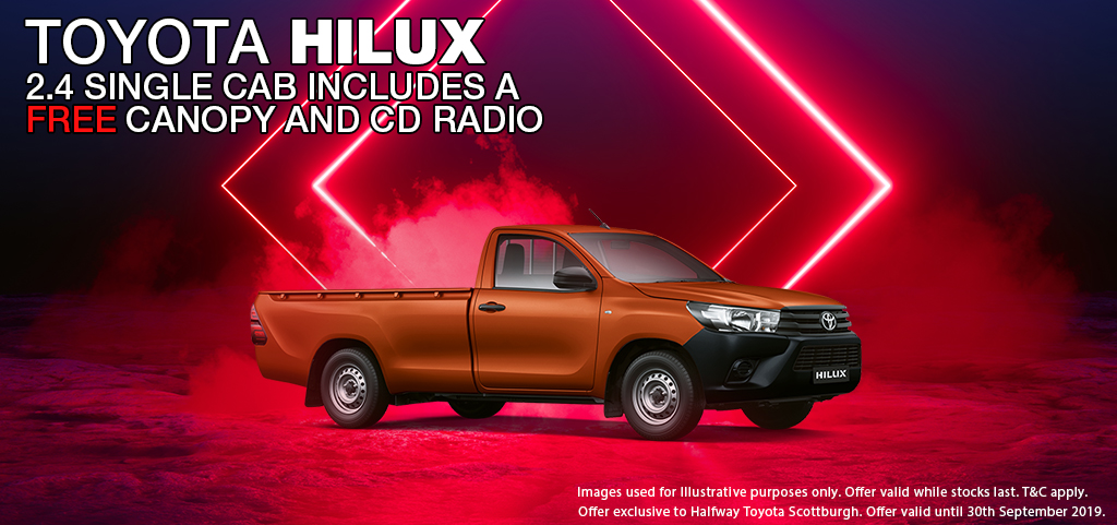 Toyota Hilux 24 Single Cab Includes A Free Canopy And Cd Radio