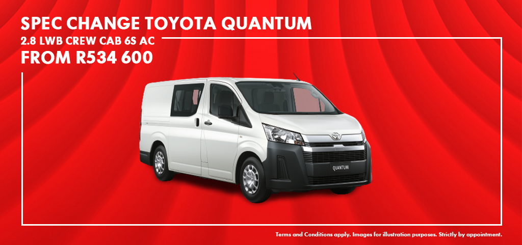 Toyota Quantum Gl Crew Cab And Panel Van   New Release 19/10/2020