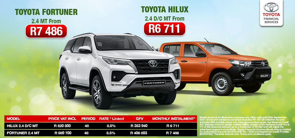 Toyota Fortuner And Toyota Hilux