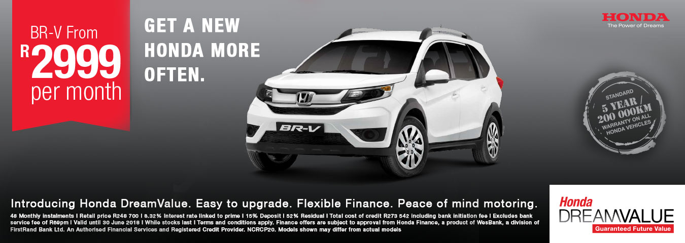 Get a new Honda more often. BR-V