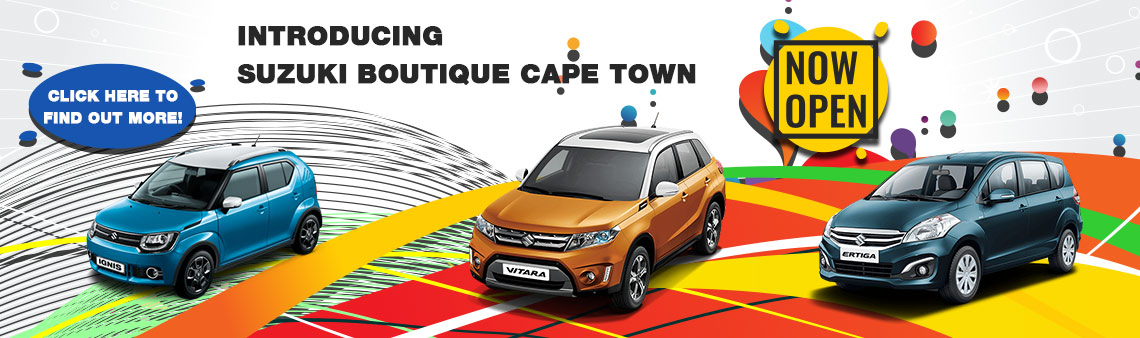 INTRODUCING SUZUKI BOUTIQUE CAPE TOWN NOW OPEN!