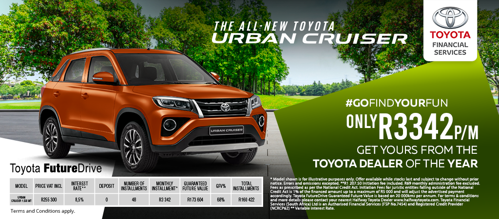 Toyota Urban Cruiser From R3342pm