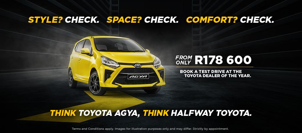 Think Toyota Agya Think Halfway Toyota
