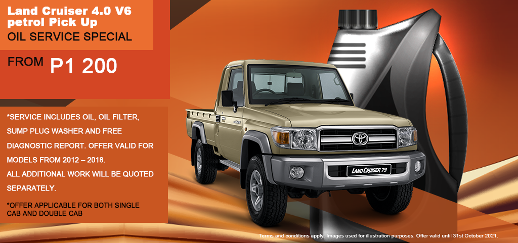 Land Cruiser 40 Oil Service Special