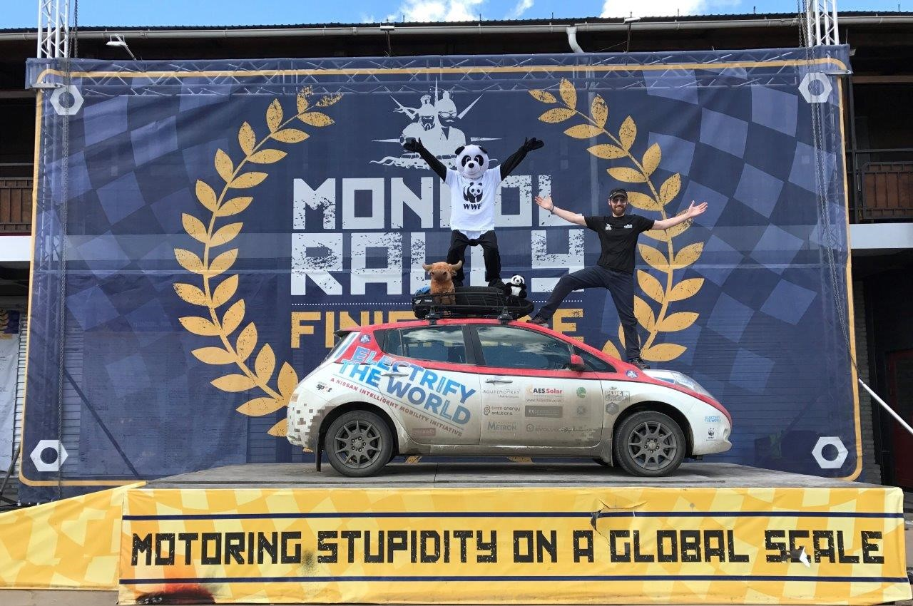 Nissan Leaf Mongol Rally Complete