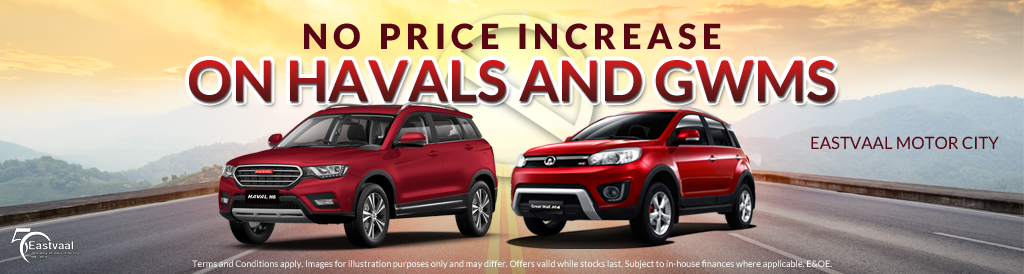 No Price increase on GWM and Haval